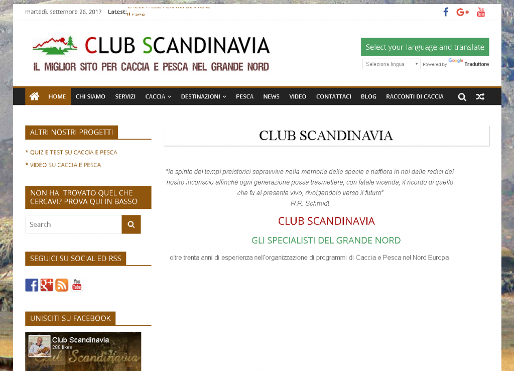 CLUB SCANDINAVIA Caccia e pesca nel Nord Europa